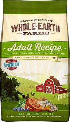 Whole Earth Farms Adult Recipe Dry Dog Food, 12-lb bag