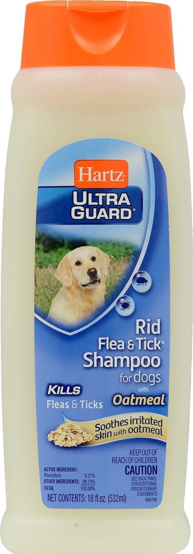 Hartz UltraGuard Rid Flea & Tick Oatmeal Dog Shampoo, 18-oz bottle