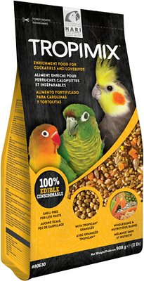 Hari Tropimix Enrichment Cockatiels & Lovebirds Bird Food, 2-lb bag