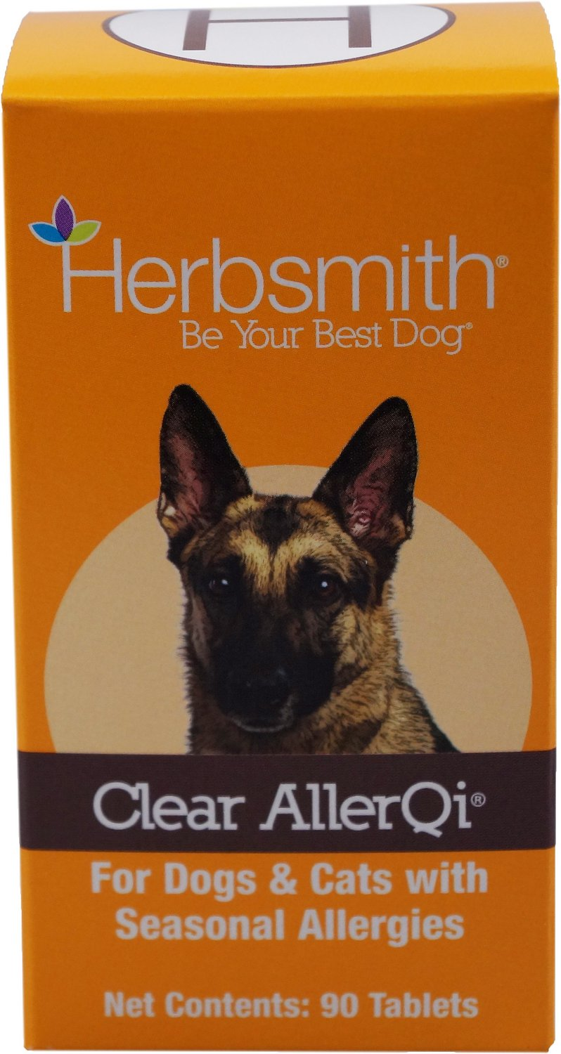 Herbsmith Herbal Blends Clear AllerQi Tablets Dog & Cat Supplement, 90-count