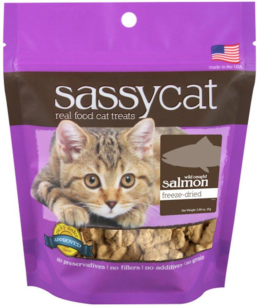 Herbsmith Sassy Cat Wild Caught Salmon Freeze-Dried Cat Treats, 0.88-oz bag