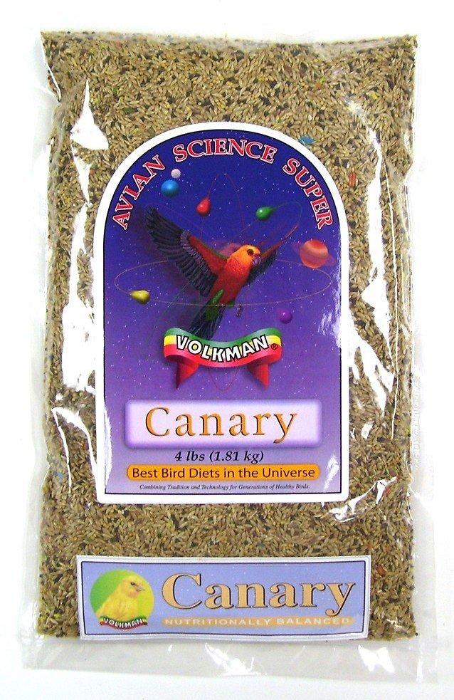 Volkman Avian Science Super Canary Food, 4-lb bag