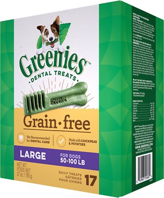 Greenies Grain-Free Large Dental Dog Treats, 17-count