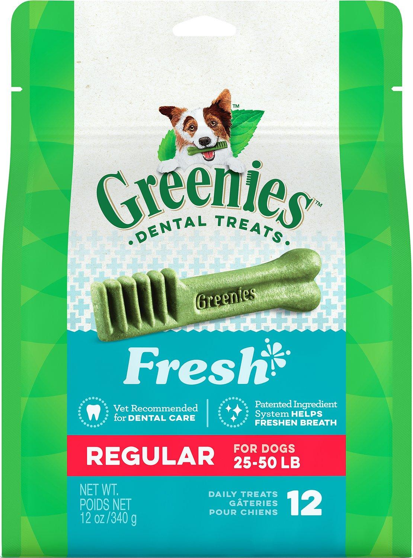 Greenies Fresh Regular Dental Dog Treats, 12-count (Weights: 12-oz, Size: 12-count) Image