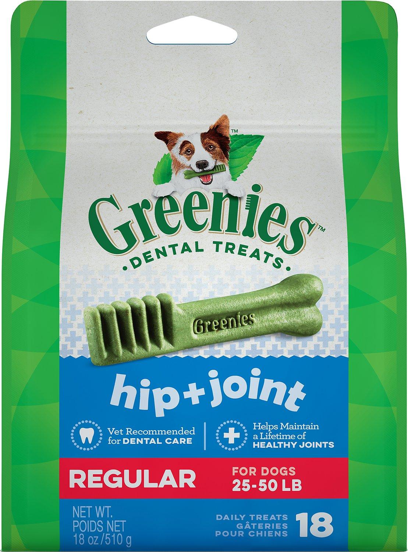 Greenies Hip & Joint Care Regular Dental Dog Treats, 18-count