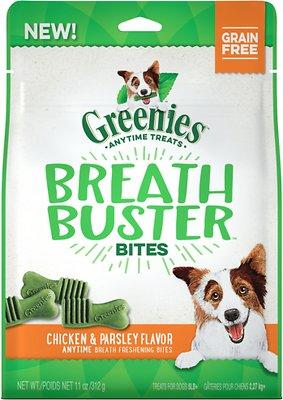 Greenies Breath Buster Bites Chicken & Parsley Flavor Grain-Free Dental Dog Treats, 11-oz bag