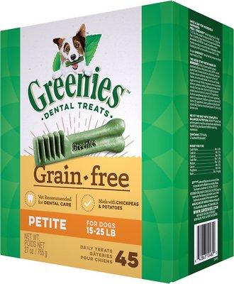 Greenies Grain-Free Petite Dental Dog Treats, 45-count