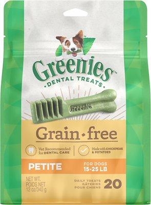 Greenies Grain-Free Petite Dental Dog Treats, 20-count