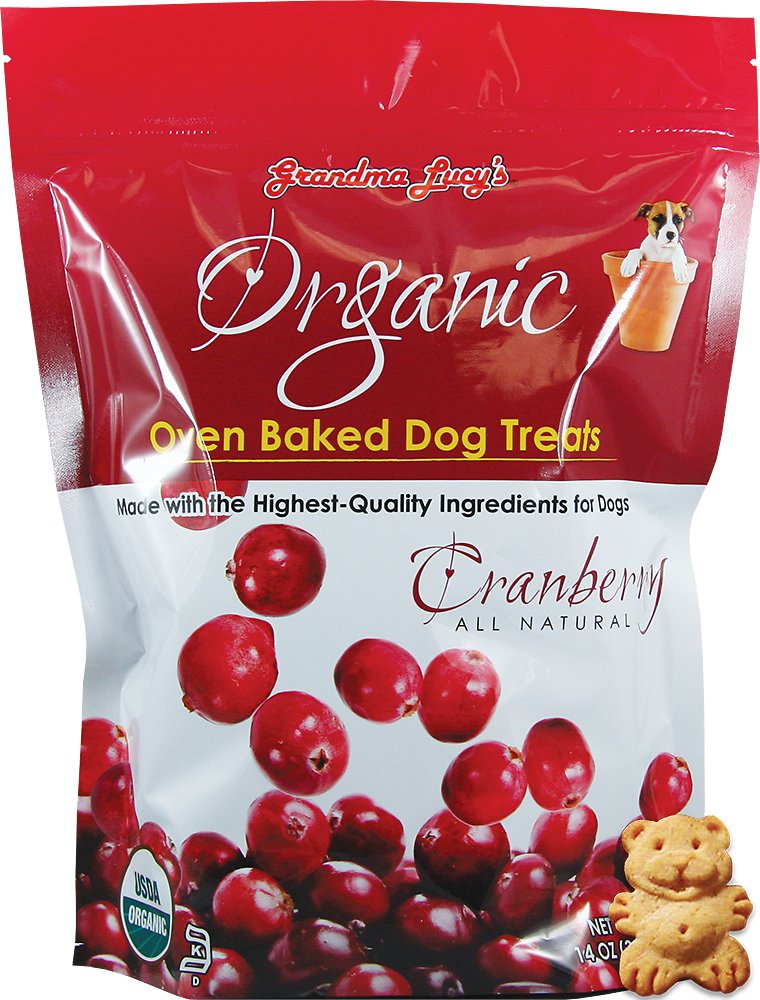 Grandma Lucy's Organic Cranberry Oven Baked Dog Treats, 14-oz bag