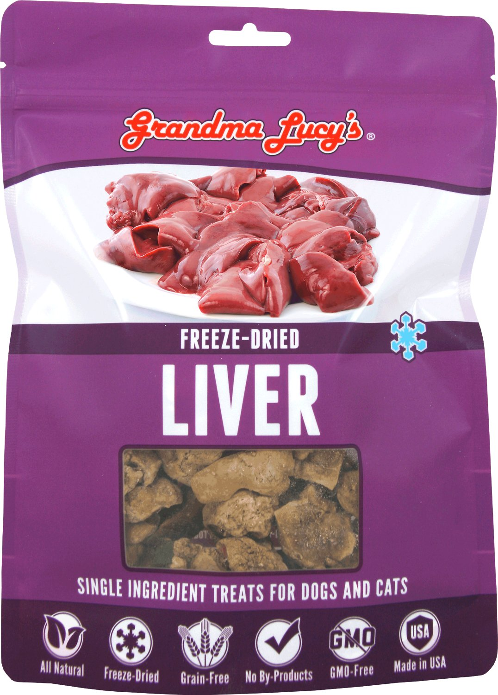 Grandma Lucy's Freeze-Dried Singles Liver Dog & Cat Treats, 3-oz bag