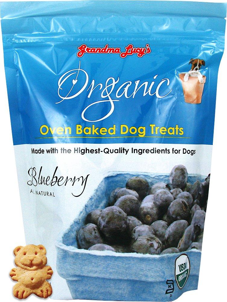 Grandma Lucy's Organic Blueberry Oven Baked Dog Treats, 14-oz bag