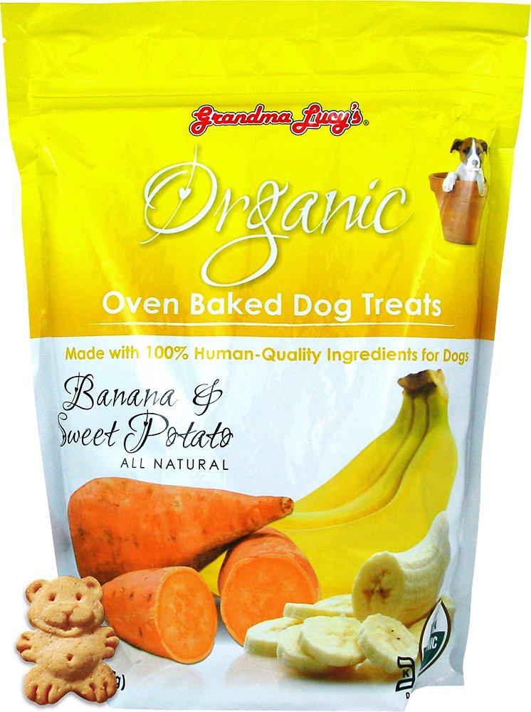 Grandma Lucy's Organic Banana & Sweet Potato Oven Baked Dog Treats, 14-oz bag