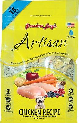 Grandma Lucy's Artisan Grain-Free Chicken Freeze-Dried Dog Food, 3-lb bag