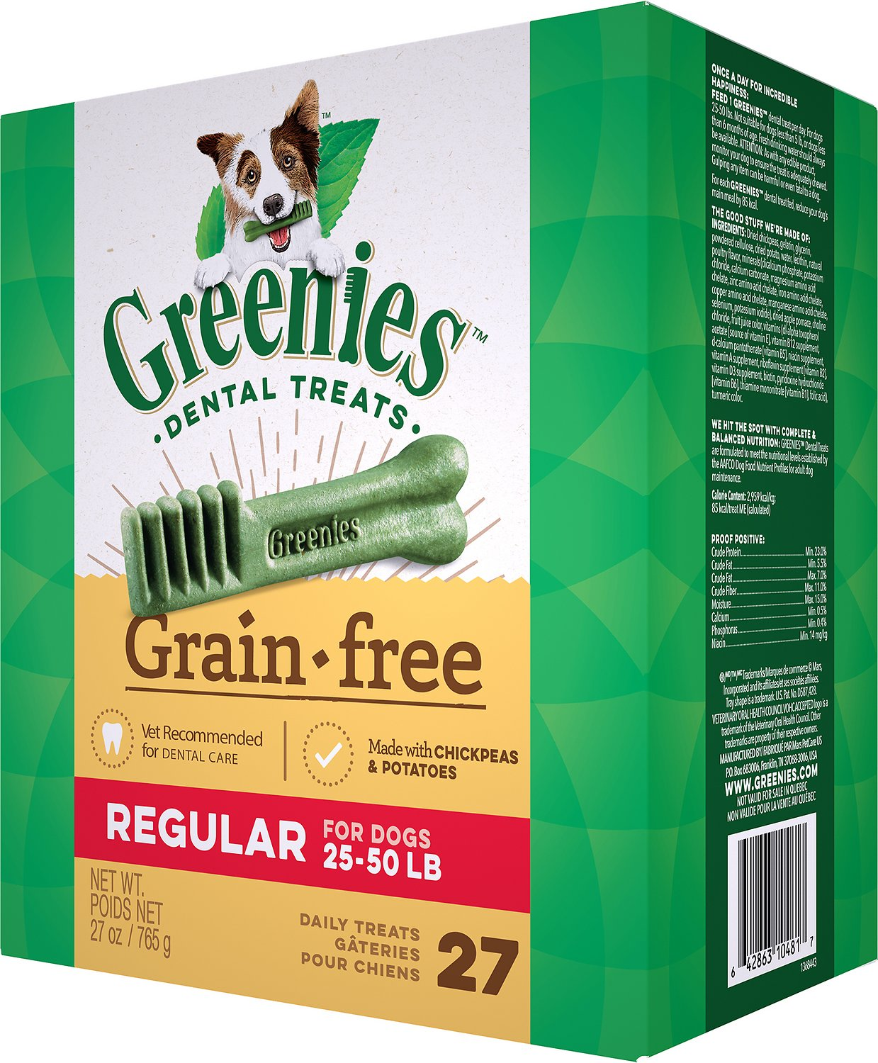 Greenies Grain-Free Regular Dental Dog Treats Image