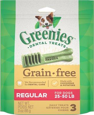 Greenies Grain-Free Regular Dental Dog Treats, 3-count