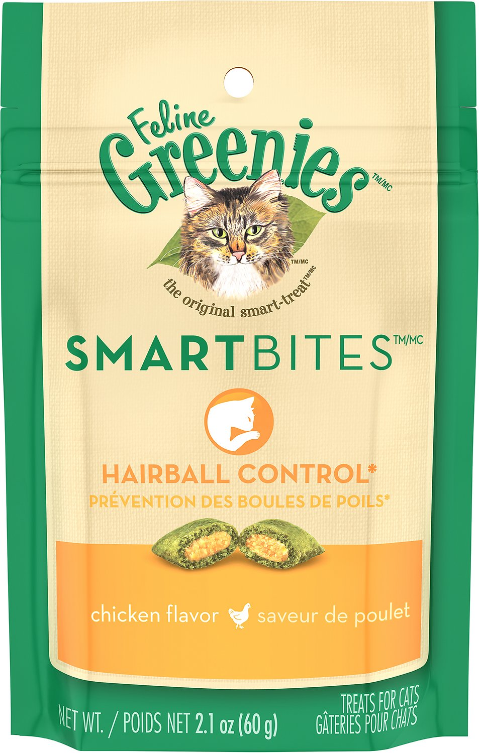 Feline Greenies SmartBites Hairball Control Chicken Flavor Cat Treats Image