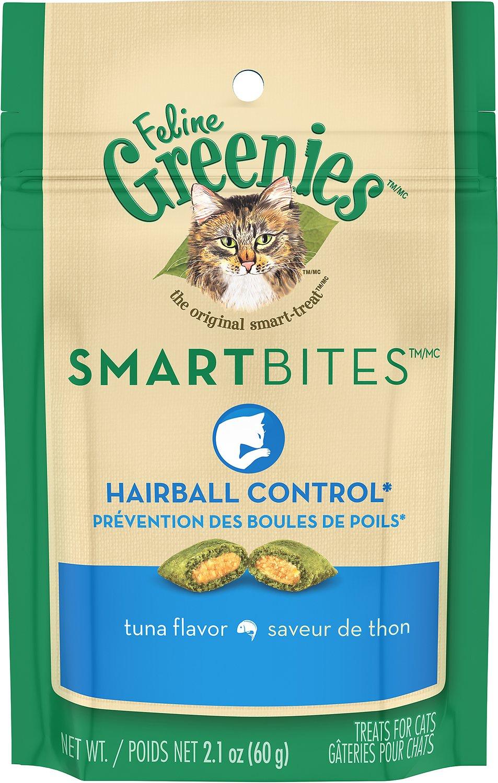 Feline Greenies SmartBites Hairball Control Tuna Flavor Cat Treats Image