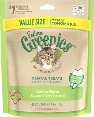 Feline Greenies Dental Treats Catnip Flavor Cat Treats, 5.5-oz bag