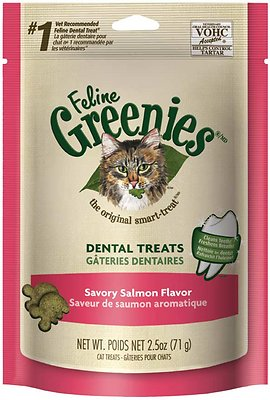 Feline Greenies Dental Treats Savory Salmon Flavor Cat Treats Image