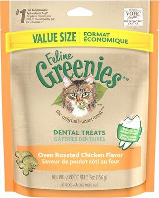 Feline Greenies Dental Treats Oven Roasted Chicken Flavor Cat Treats, 5.5-oz bag