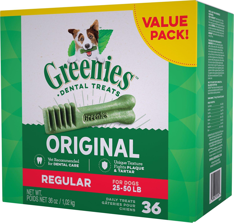 Greenies Original Regular Dental Dog Treats, 36-count