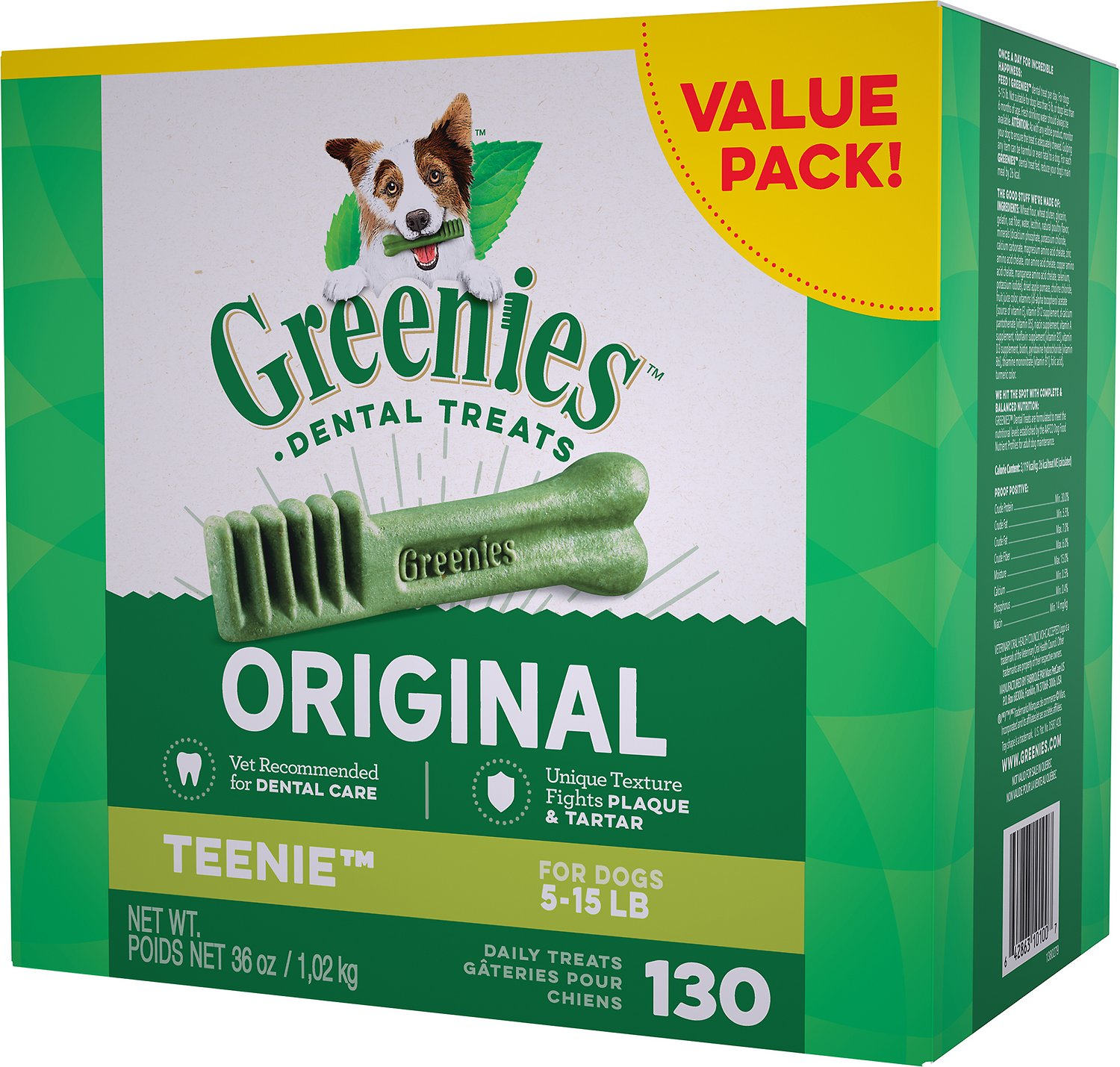 Greenies Original Teenie Dental Dog Treats, 130-count (Size: 130-count) Image