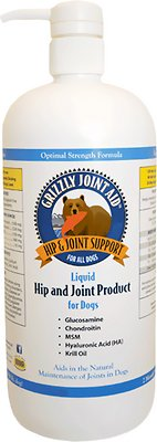 Grizzly Joint Aid Liquid Hip & Joint Dog Supplement, 16-oz bottle