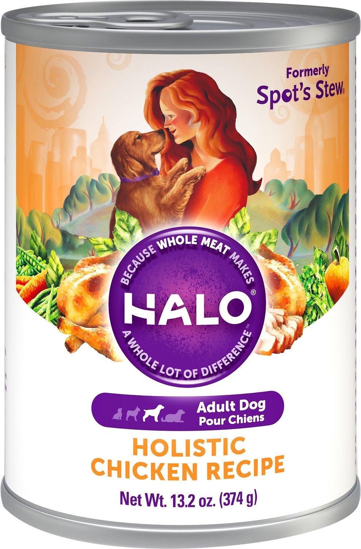 Halo Holistic Chicken Recipe Adult Canned Dog Food, 13.2-oz