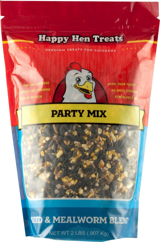 Happy Hen Treats Sunflower & Raisin Party Mix Treats for Chickens, 2-lb bag