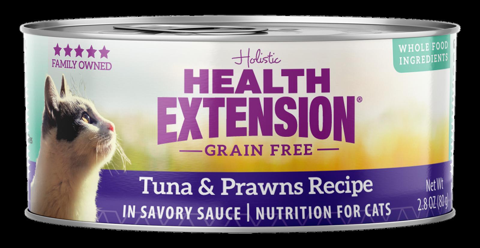Health Extension Grain-Free Tuna & Prawns Recipe Canned Cat Food Image