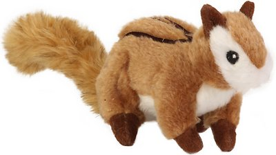 GoDog Wildlife Chew Guard Chipmunk Dog Toy, Large