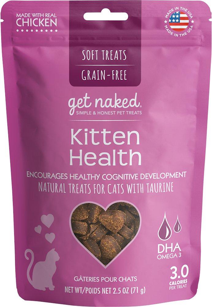 Get Naked Kitten Health Grain-Free Soft Cat Treats, 2.5-oz bag