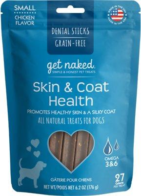 Get Naked Skin & Coat Health Dental Sticks Grain-Free Dog Treats, Small