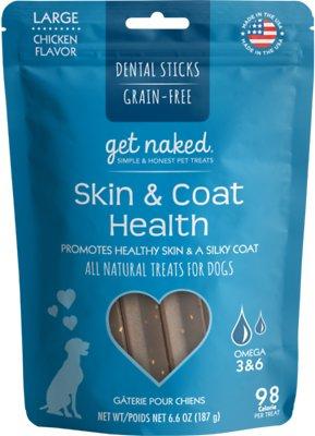 Get Naked Skin & Coat Health Dental Grain-Free Sticks Dog Treats, Large