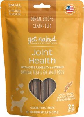 Get Naked Joint Health Dental Chew Sticks Dog Treats, Small