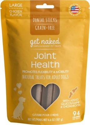 Get Naked Joint Health Dental Chew Sticks Dog Treats, Large