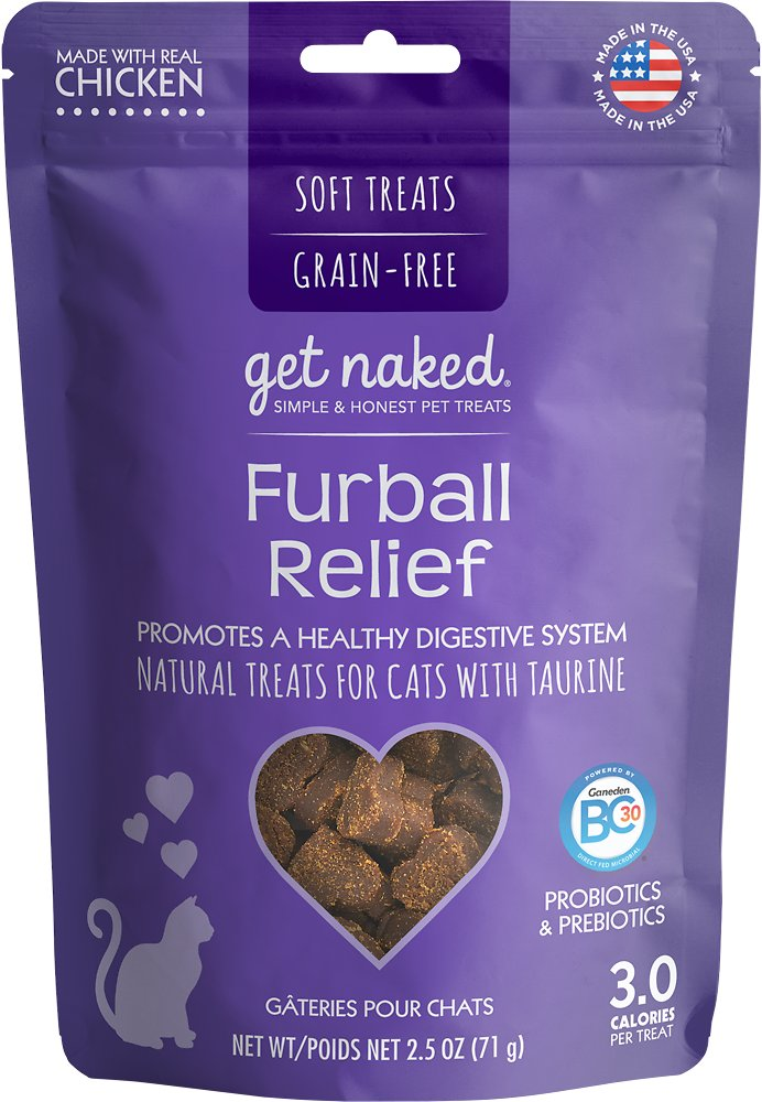 Get Naked Furball Relief Grain-Free Soft Cat Treats, 2.5-oz bag (Weights: 2.5ounces) Image