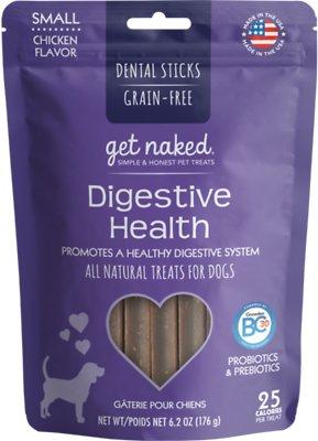 Get Naked Digestive Health Dental Chew Sticks Dog Treats, Small