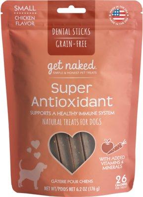 Get Naked Super Antioxidant Dental Chew Sticks Dog Treats, Small