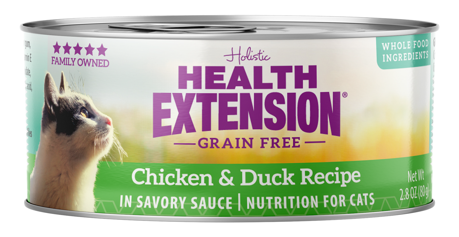Health Extension Grain-Free Chicken & Duck Recipe Canned Cat Food, 2.8-oz