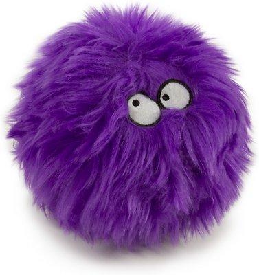 GoDog Furballz Chew Guard Dog Toy, Purple, Small
