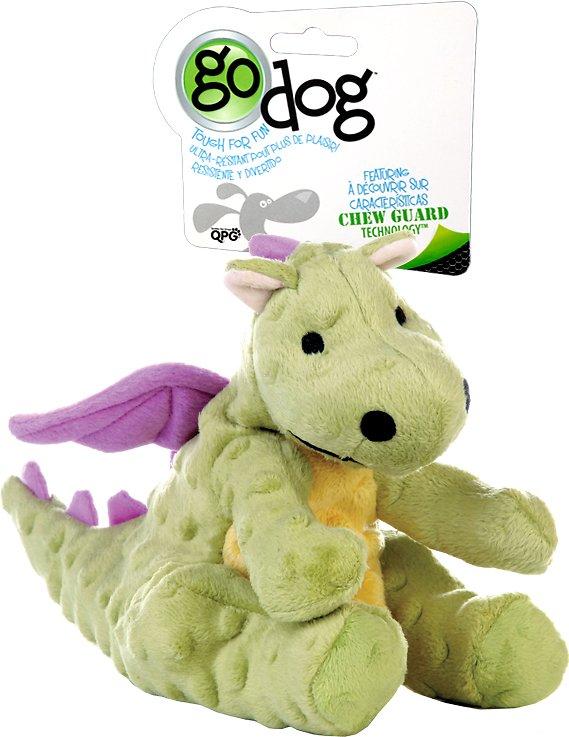 GoDog Dragons Chew Guard Dog Toy, Lime Green Image
