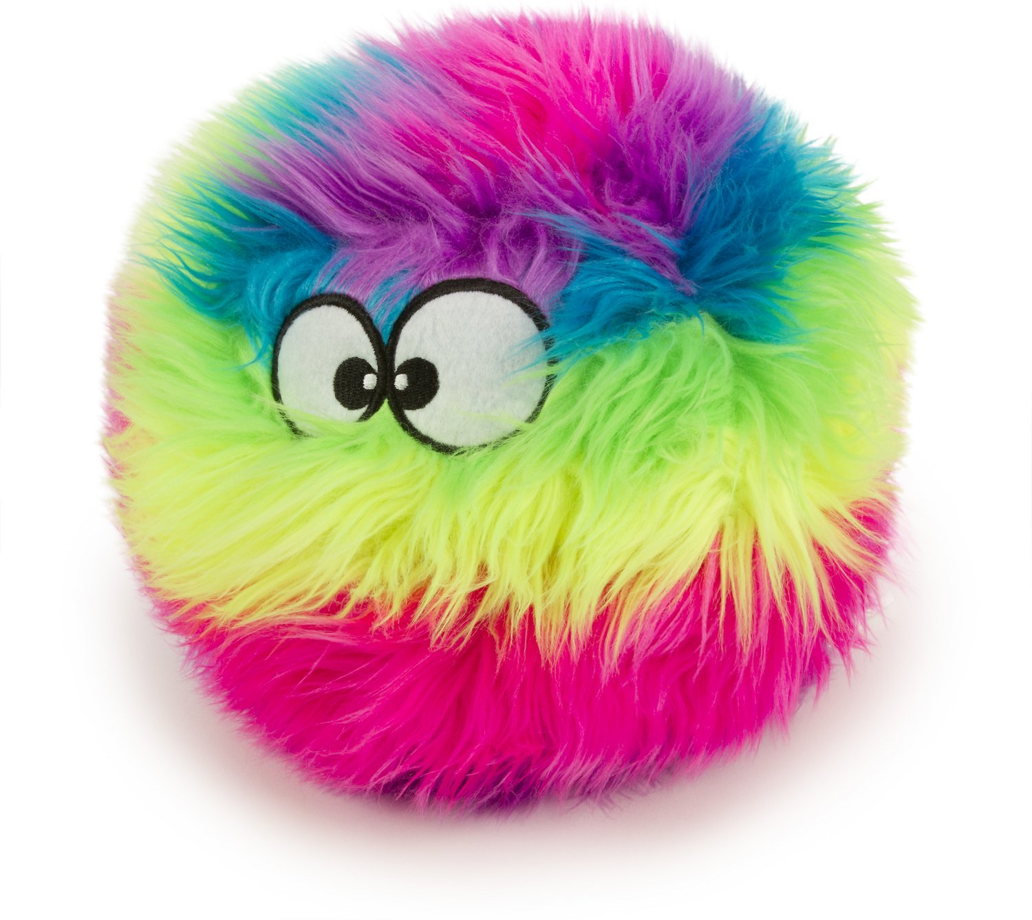 GoDog Furballz Chew Guard Dog Toy, Rainbow Image