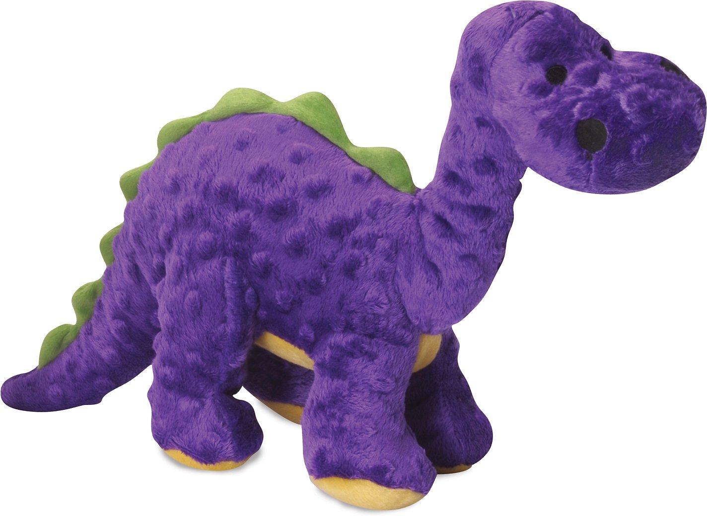 GoDog Dinos Chew Guard Bruto Dog Toy, Purple Image