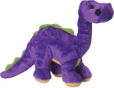 GoDog Dinos Chew Guard Bruto Dog Toy, Purple, Small