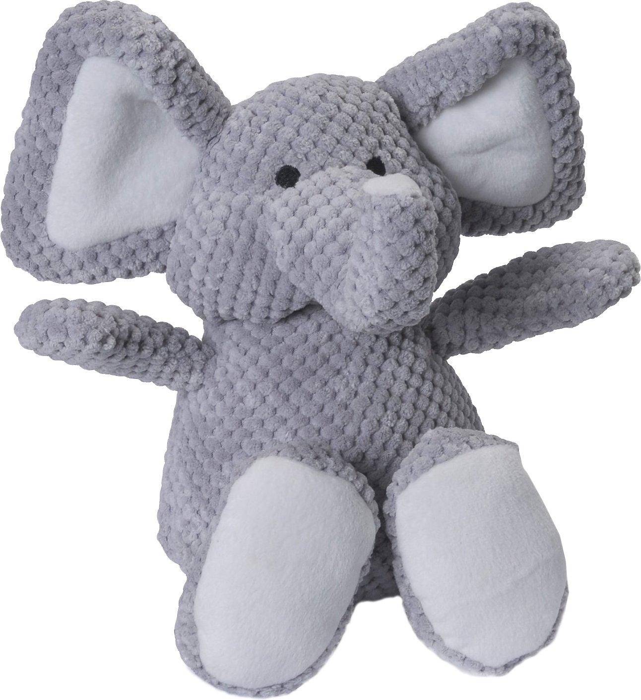 GoDog Checkers Chew Guard Elephant Dog Toy, Large