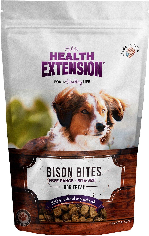 Health Extension Grain-Free Bison Bites Dog Treats, 4.5-oz
