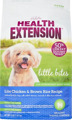 Health Extension Lite Little Bites Chicken & Brown Rice Recipe Dry Dog Food, 4-lb
