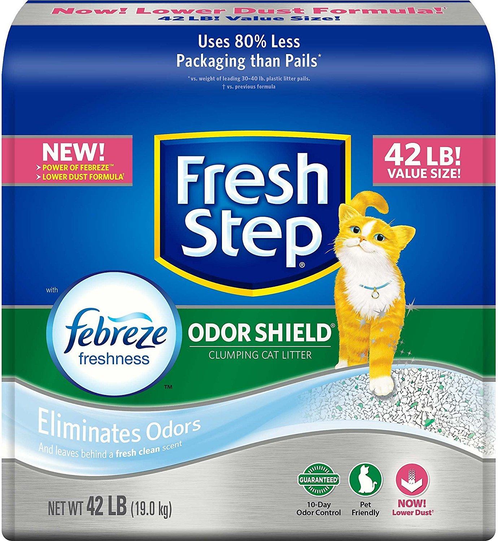 Fresh Step Odor Shield Scented Cat Litter, 42-lb (Size: 42-lb bag) Image