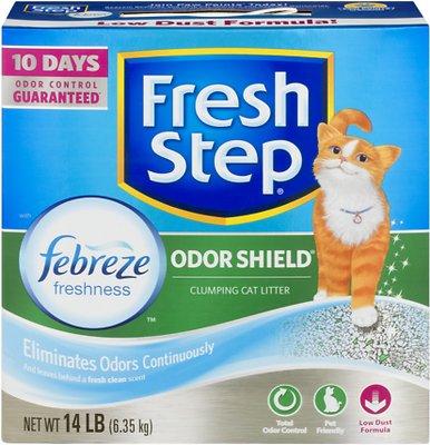 Fresh Step Odor Shield Clumping Cat Litter, 14-lb box